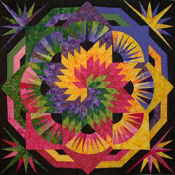 Quilting Discoveries Spiral Lone Star Quilt